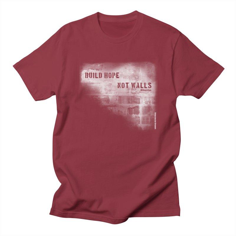 Build Hope Not Walls White Houston Men's Regular T-Shirt by Revolution Art Offensive