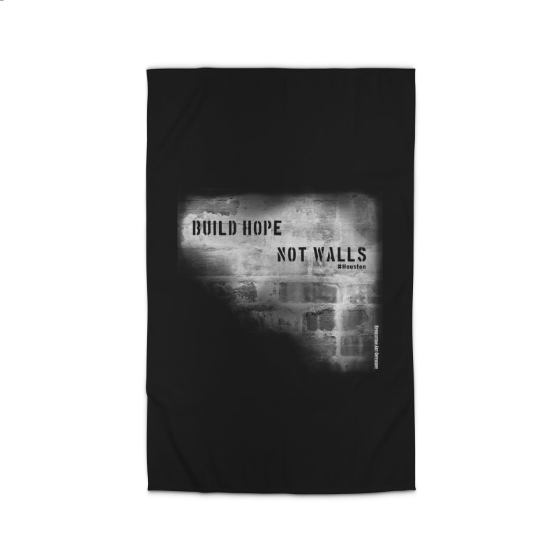 Build Hope Not Walls White Houston Home Rug by Revolution Art Offensive