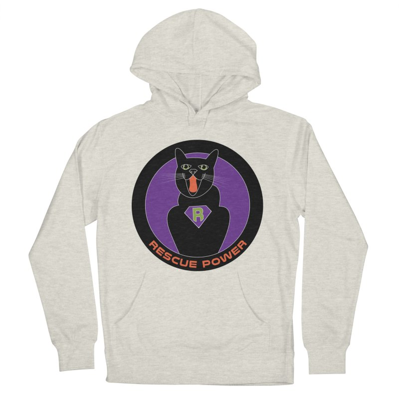 Rescue Power ACTIVATE Cat Houston Hurricane Men's French Terry Pullover Hoody by Revolution Art Offensive