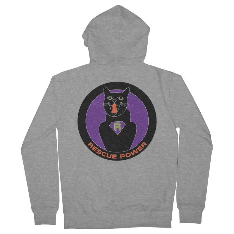 Rescue Power ACTIVATE Cat Houston Hurricane Women's French Terry Zip-Up Hoody by Revolution Art Offensive