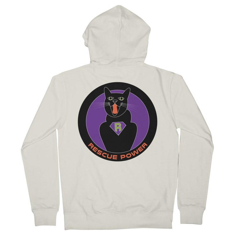 Rescue Power ACTIVATE Cat Houston Hurricane Men's French Terry Zip-Up Hoody by Revolution Art Offensive
