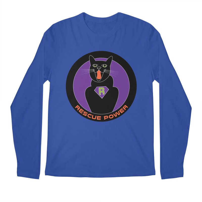 Rescue Power ACTIVATE Cat Houston Hurricane Men's Regular Longsleeve T-Shirt by Revolution Art Offensive