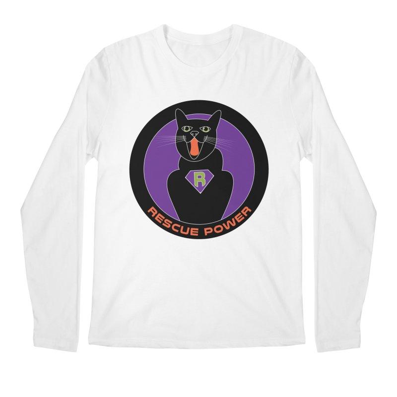 Rescue Power ACTIVATE Cat Houston Hurricane Men's Regular Longsleeve T-Shirt by Revolution Art Offensive