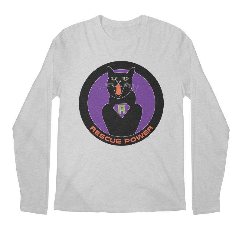Rescue Power ACTIVATE Cat Houston Hurricane Men's Longsleeve T-Shirt by Revolution Art Offensive