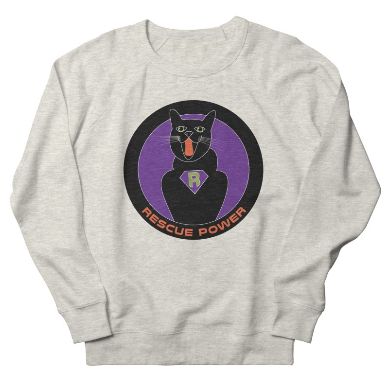 Rescue Power ACTIVATE Cat Houston Hurricane Women's French Terry Sweatshirt by Revolution Art Offensive