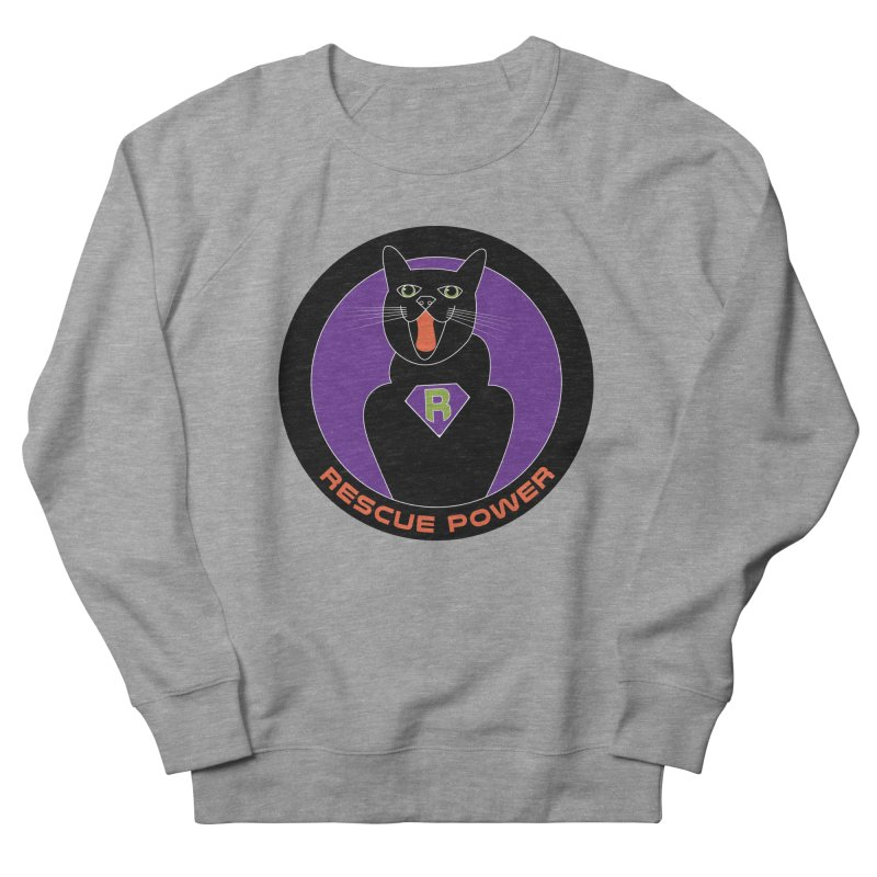 Rescue Power ACTIVATE Cat Houston Hurricane Men's French Terry Sweatshirt by Revolution Art Offensive
