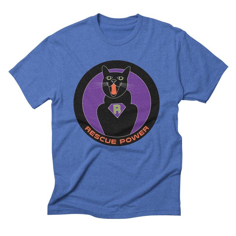 Rescue Power ACTIVATE Cat Houston Hurricane Men's Triblend T-Shirt by Revolution Art Offensive