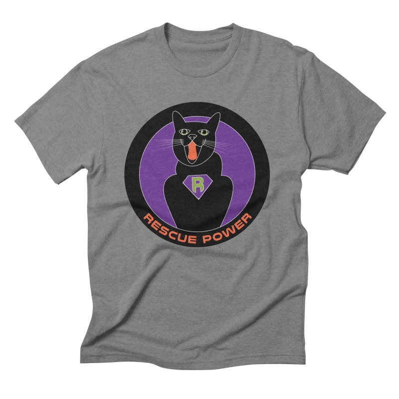 Rescue Power ACTIVATE Cat Houston Hurricane Men's Triblend T-shirt by Revolution Art Offensive