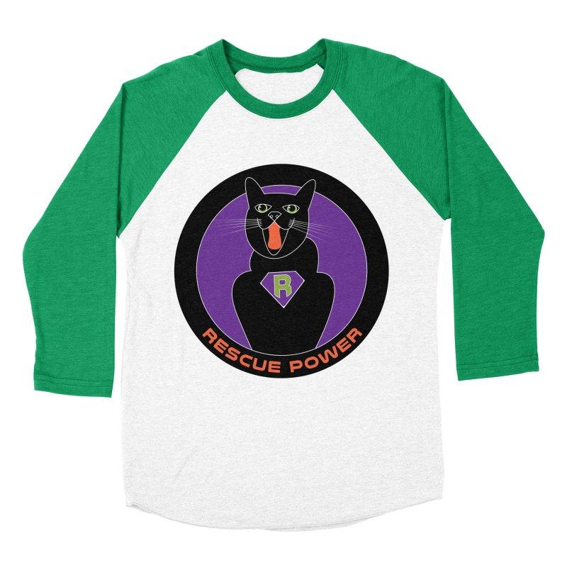 Rescue Power ACTIVATE Cat Houston Hurricane Women's Baseball Triblend Longsleeve T-Shirt by Revolution Art Offensive