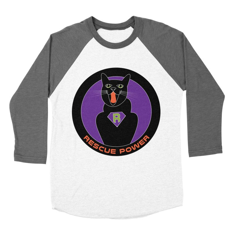 Rescue Power ACTIVATE Cat Houston Hurricane Men's Baseball Triblend Longsleeve T-Shirt by Revolution Art Offensive