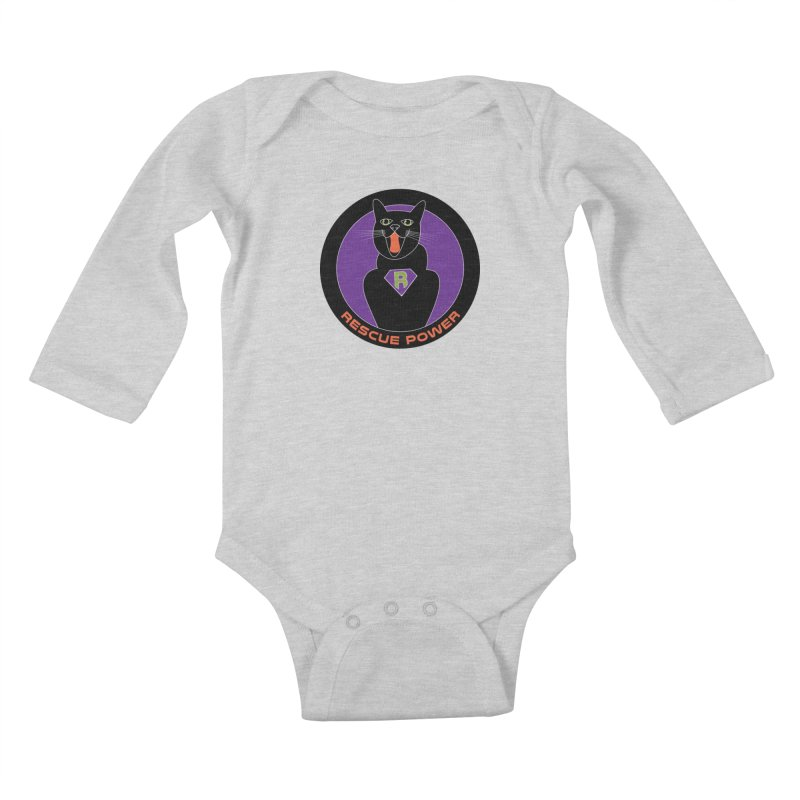 Rescue Power ACTIVATE Cat Houston Hurricane Kids Baby Longsleeve Bodysuit by Revolution Art Offensive