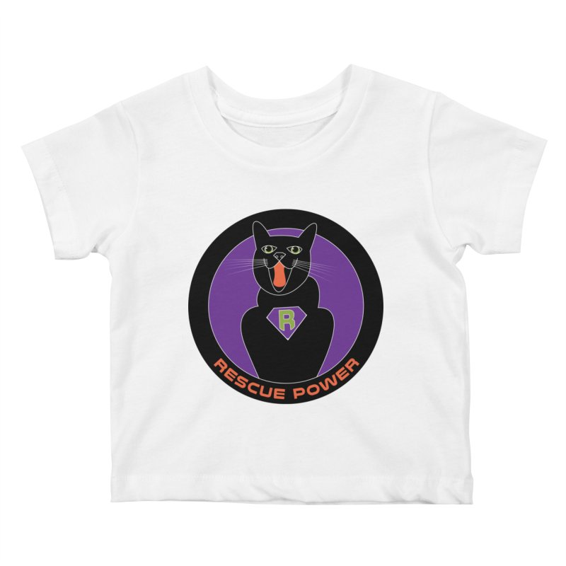 Rescue Power ACTIVATE Cat Houston Hurricane Kids Baby T-Shirt by Revolution Art Offensive
