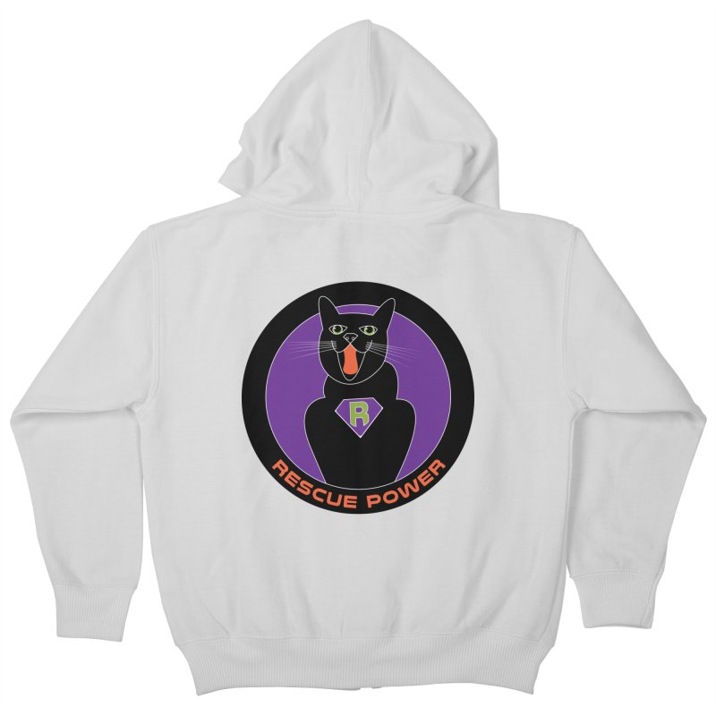 Rescue Power ACTIVATE Cat Houston Hurricane Kids Zip-Up Hoody by Revolution Art Offensive