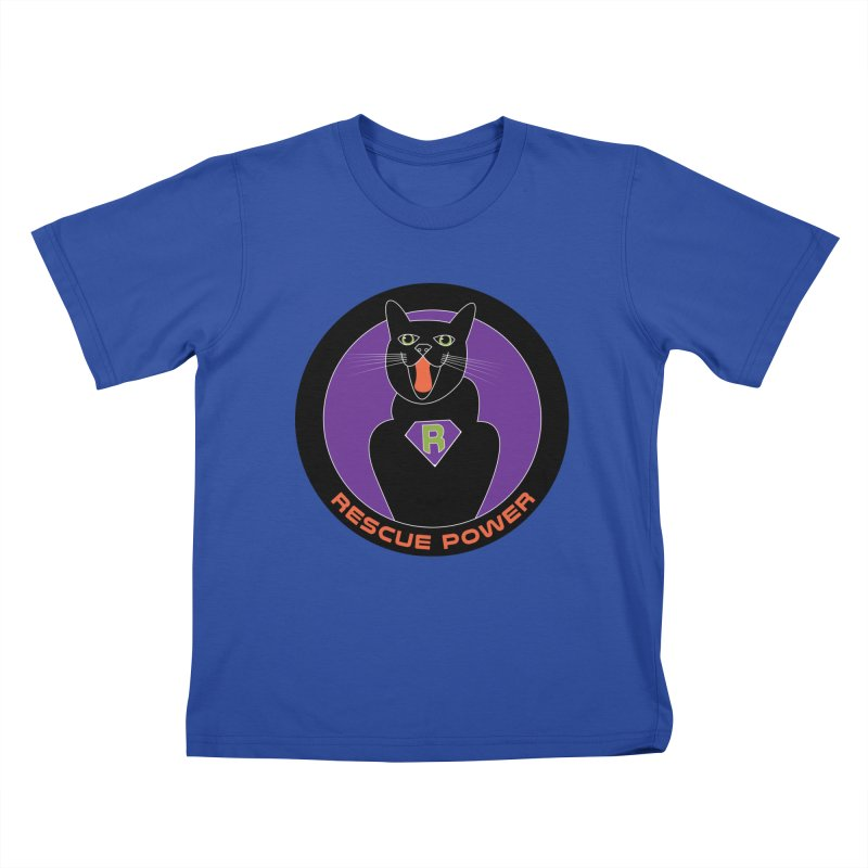 Rescue Power ACTIVATE Cat Houston Hurricane Kids T-Shirt by Revolution Art Offensive