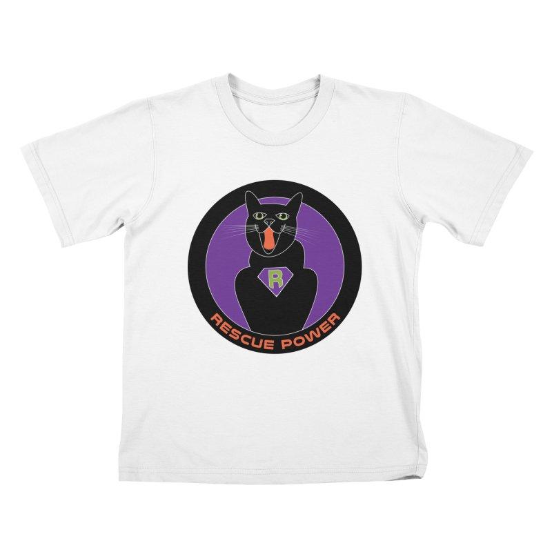 Rescue Power ACTIVATE Cat Houston Hurricane Kids T-shirt by Revolution Art Offensive
