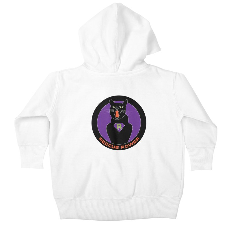 Rescue Power ACTIVATE Cat Houston Hurricane Kids Baby Zip-Up Hoody by Revolution Art Offensive