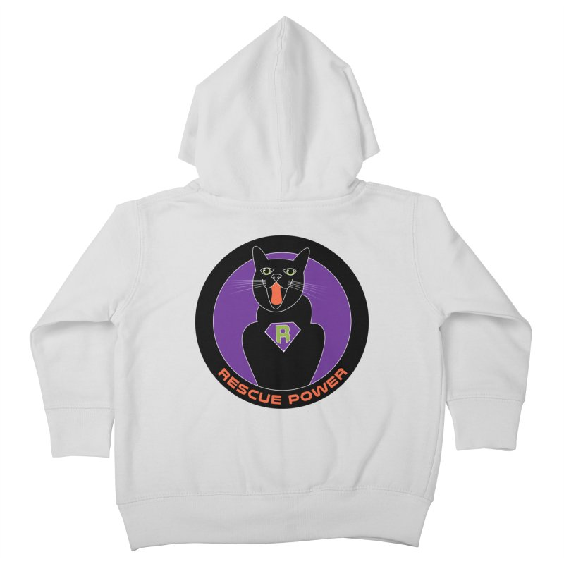 Rescue Power ACTIVATE Cat Houston Hurricane Kids Toddler Zip-Up Hoody by Revolution Art Offensive