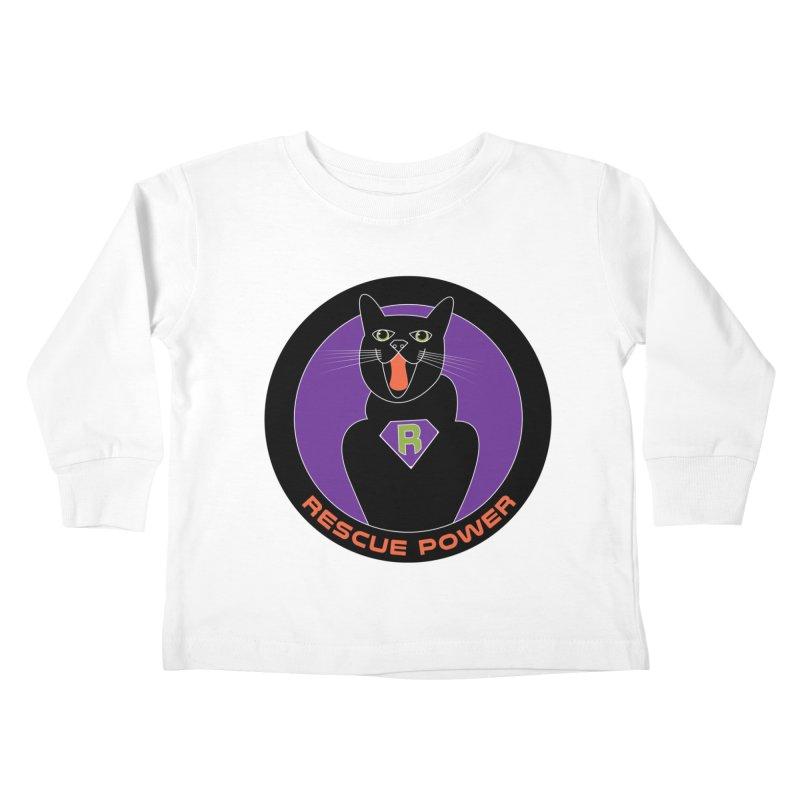 Rescue Power ACTIVATE Cat Houston Hurricane Kids Toddler Longsleeve T-Shirt by Revolution Art Offensive