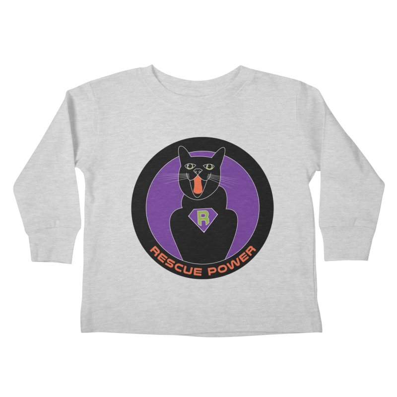 Rescue Power ACTIVATE Cat Houston Hurricane Kids Toddler Longsleeve T-Shirt by Revolution Art Offensive