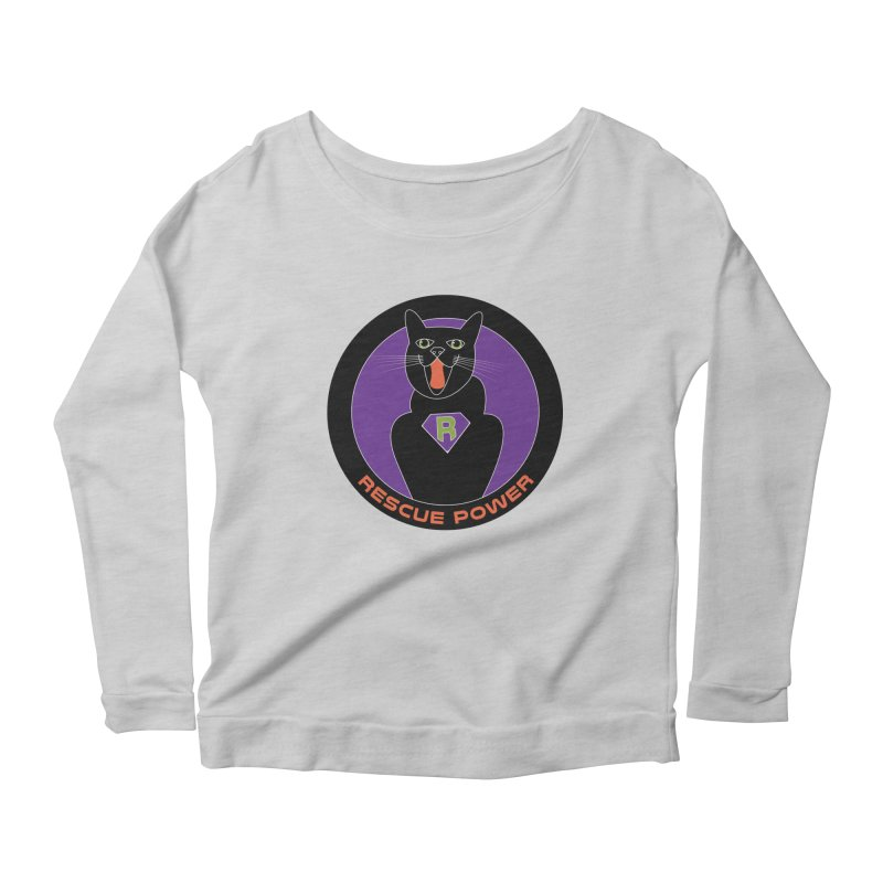 Rescue Power ACTIVATE Cat Houston Hurricane Women's Longsleeve Scoopneck  by Revolution Art Offensive