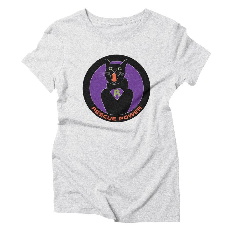 Rescue Power ACTIVATE Cat Houston Hurricane Women's Triblend T-shirt by Revolution Art Offensive