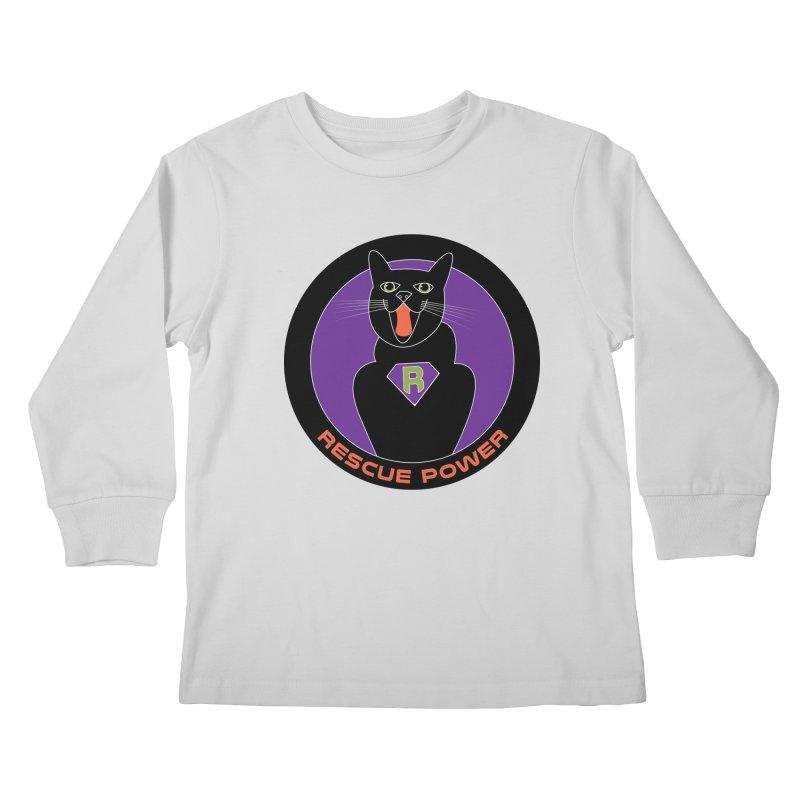 Rescue Power ACTIVATE Cat Houston Hurricane Kids Longsleeve T-Shirt by Revolution Art Offensive