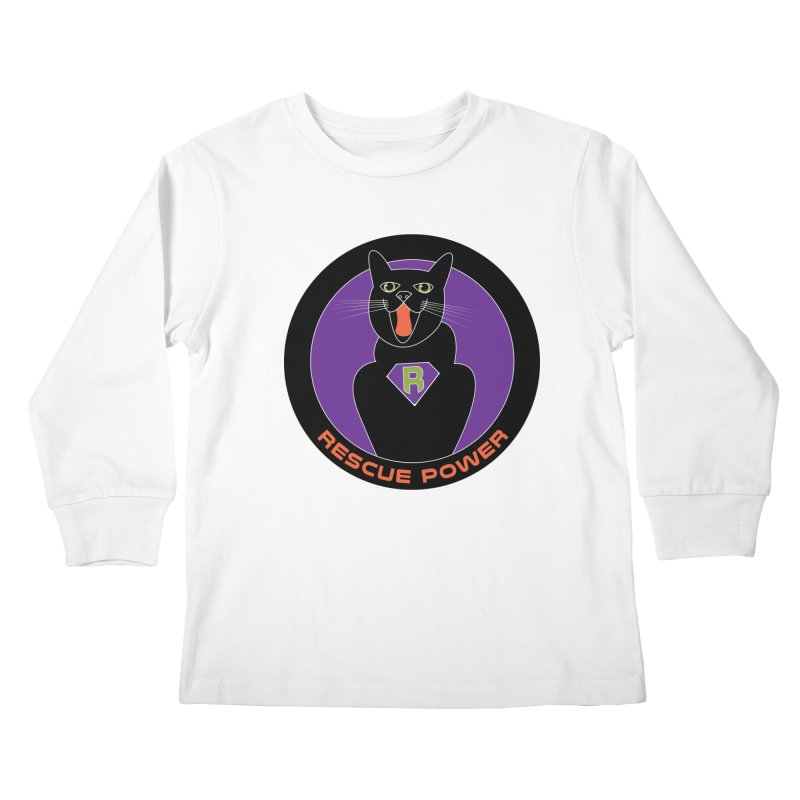 Rescue Power ACTIVATE Cat Houston Hurricane Kids Longsleeve T-Shirt by Revolution Art Offensive