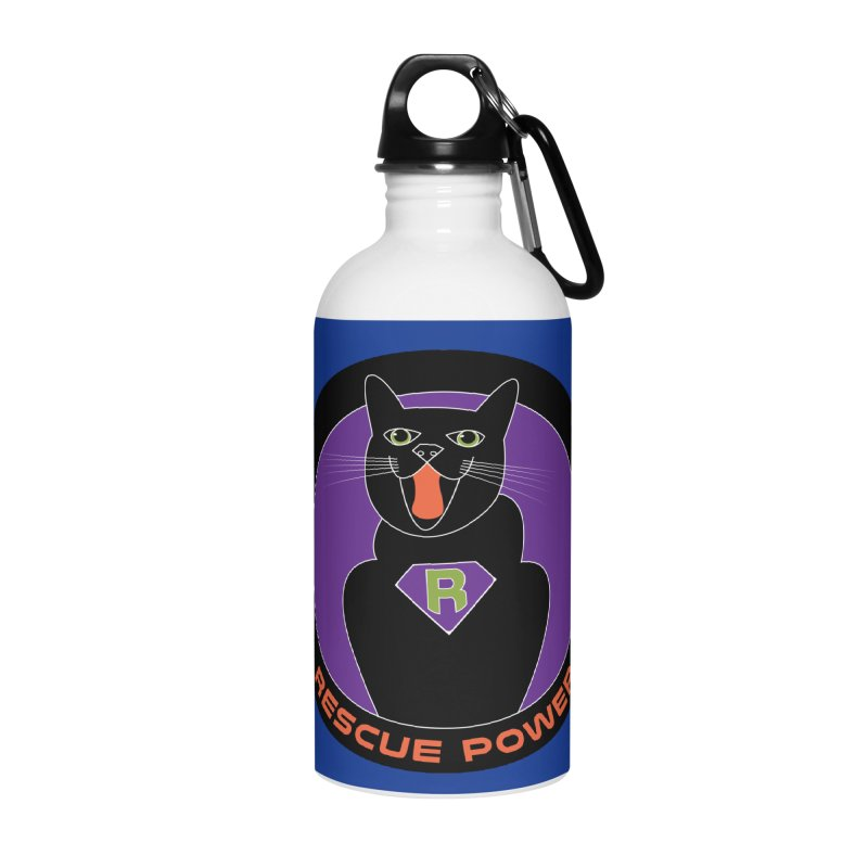 Rescue Power ACTIVATE Cat Houston Hurricane Accessories Water Bottle by Revolution Art Offensive