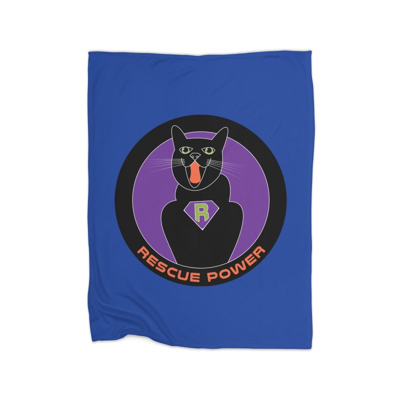 Rescue Power ACTIVATE Cat Houston Hurricane Home Blanket by Revolution Art Offensive