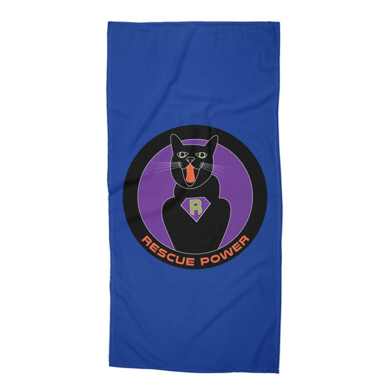 Rescue Power ACTIVATE Cat Houston Hurricane Accessories Beach Towel by Revolution Art Offensive
