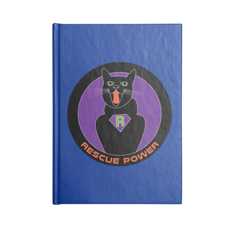 Rescue Power ACTIVATE Cat Houston Hurricane Accessories Blank Journal Notebook by Revolution Art Offensive