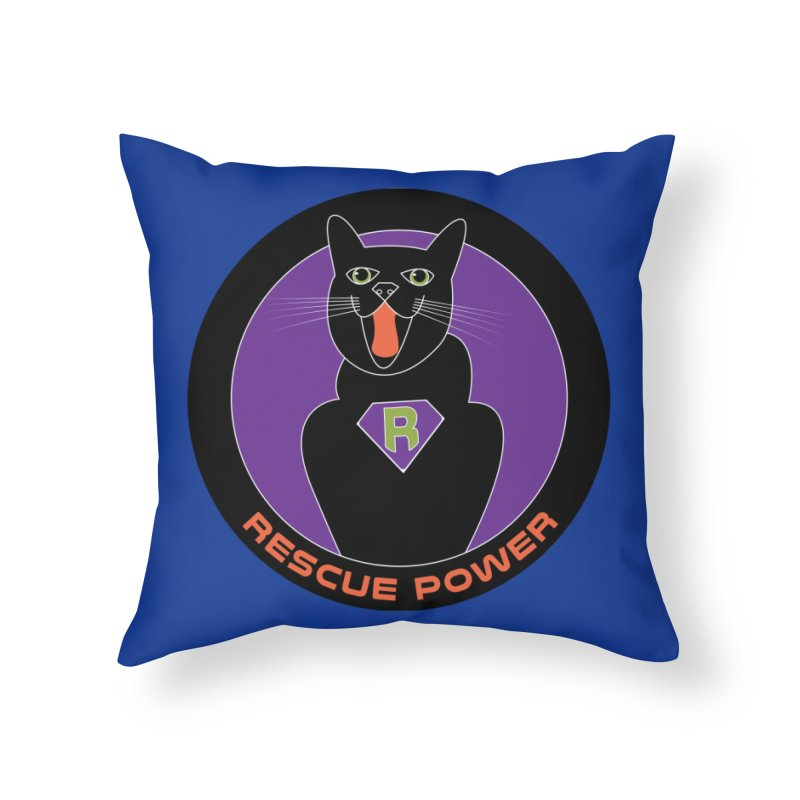 Rescue Power ACTIVATE Cat Houston Hurricane Home Throw Pillow by Revolution Art Offensive