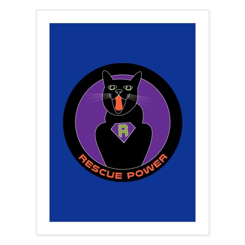 Rescue Power ACTIVATE Cat Houston Hurricane Home Fine Art Print by Revolution Art Offensive