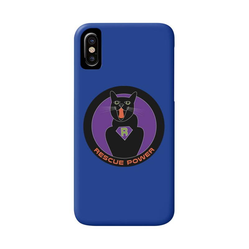 Rescue Power ACTIVATE Cat Houston Hurricane Accessories Phone Case by Revolution Art Offensive
