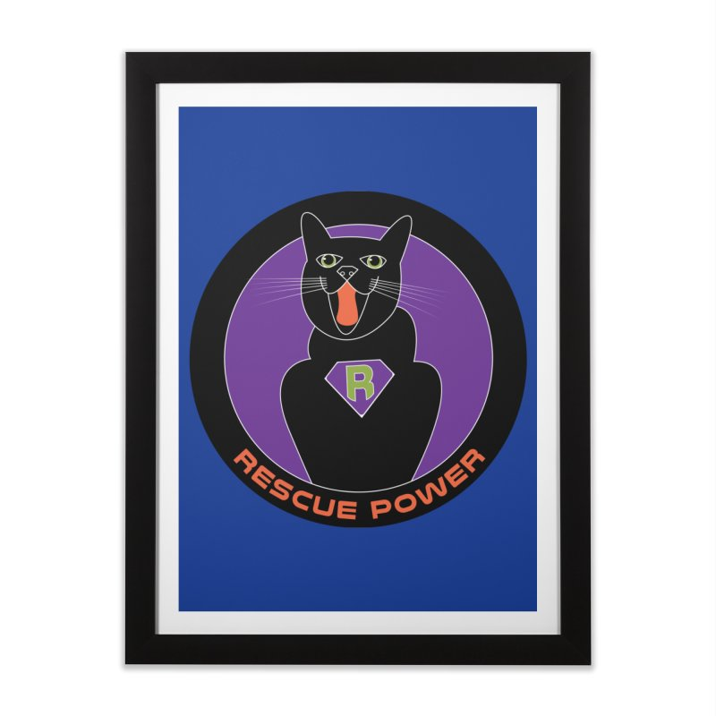 Rescue Power ACTIVATE Cat Houston Hurricane Home Framed Fine Art Print by Revolution Art Offensive