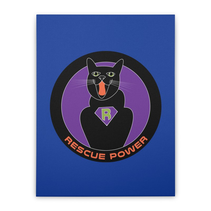 Rescue Power ACTIVATE Cat Houston Hurricane Home Stretched Canvas by Revolution Art Offensive