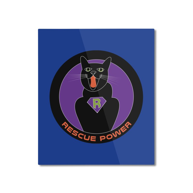 Rescue Power ACTIVATE Cat Houston Hurricane Home Mounted Aluminum Print by Revolution Art Offensive