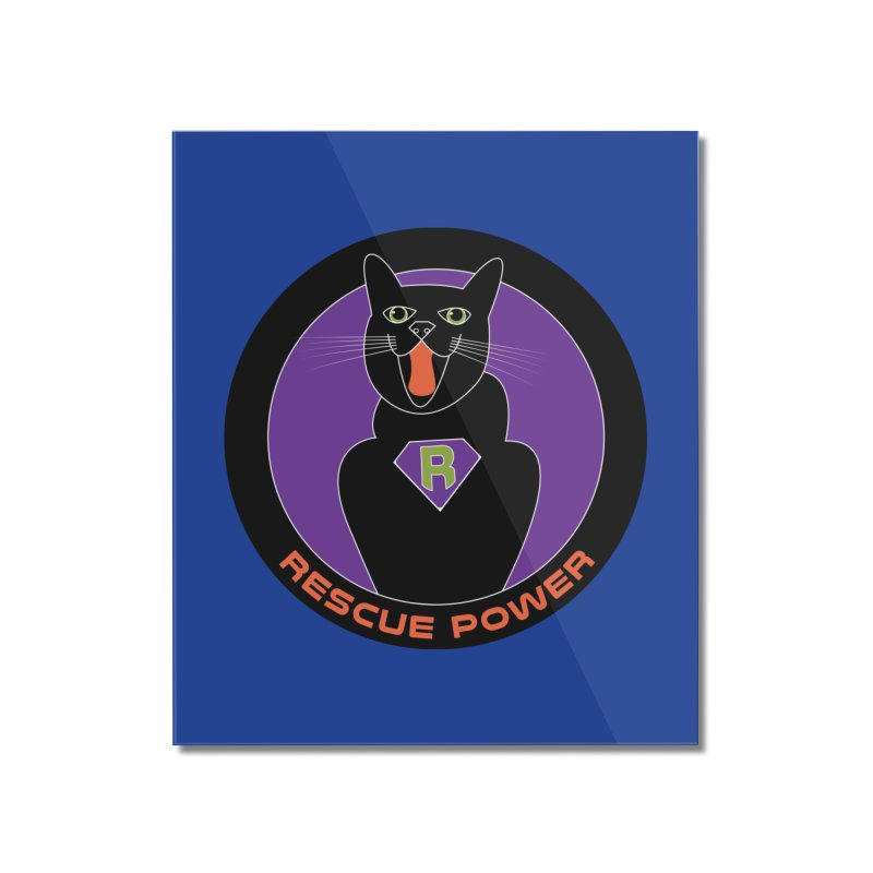 Rescue Power ACTIVATE Cat Houston Hurricane Home Mounted Acrylic Print by Revolution Art Offensive