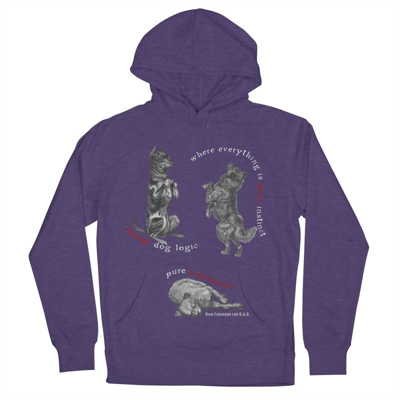 Dog Logic White Text Houston Hurricane Animal Rescue Men's French Terry Pullover Hoody by Revolution Art Offensive