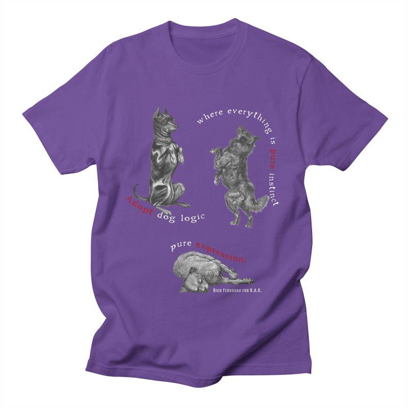 Dog Logic White Text Houston Hurricane Animal Rescue Men's T-Shirt by Revolution Art Offensive