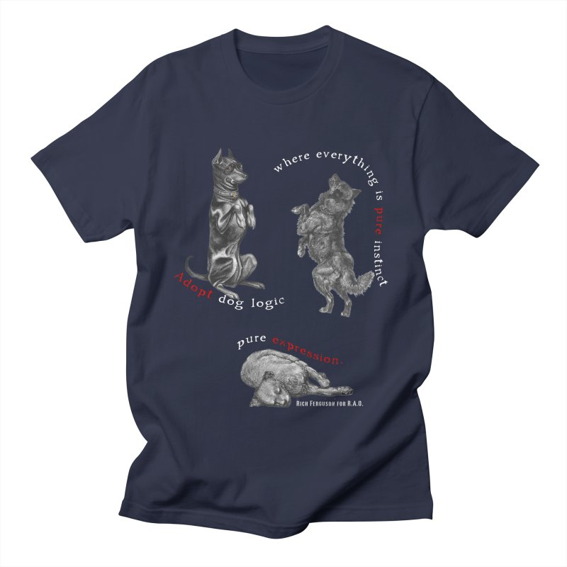 Dog Logic White Text Houston Hurricane Animal Rescue Men's T-Shirt by Revolution Art Offensive
