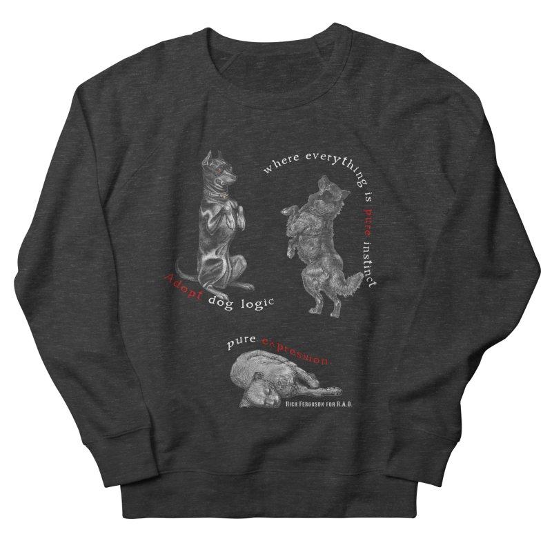 Dog Logic White Text Houston Hurricane Animal Rescue Women's Sweatshirt by Revolution Art Offensive