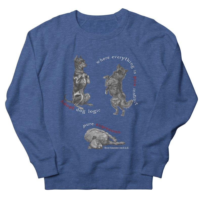 Dog Logic White Text Houston Hurricane Animal Rescue Men's Sweatshirt by Revolution Art Offensive