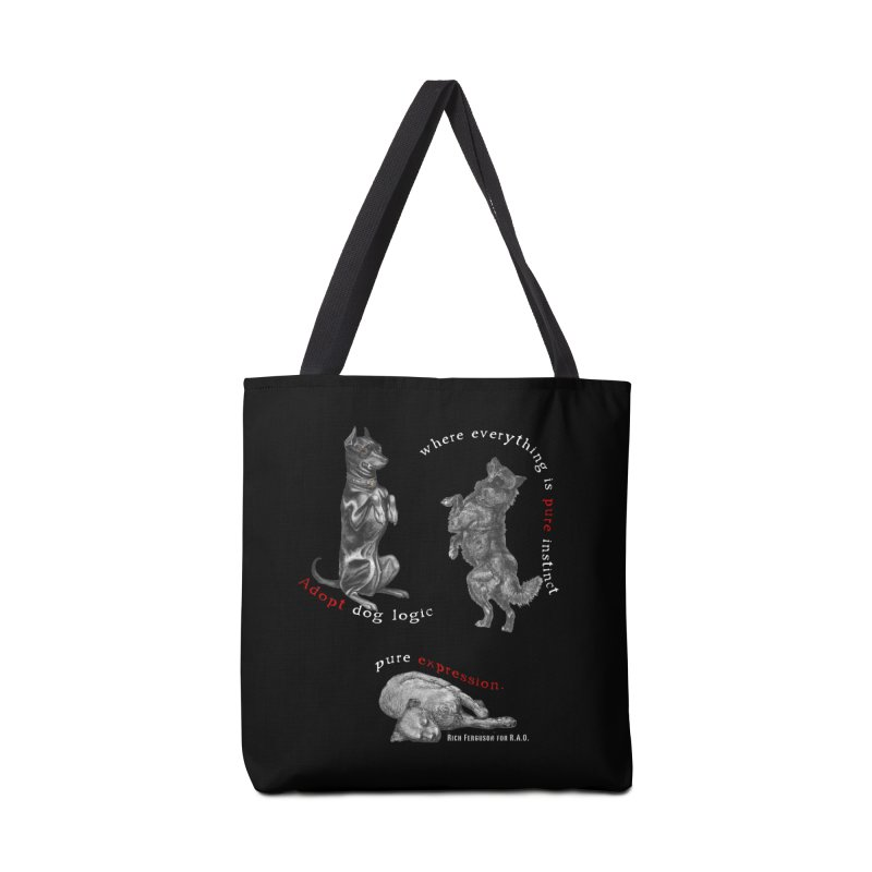 Dog Logic White Text Houston Hurricane Animal Rescue Accessories Bag by Revolution Art Offensive
