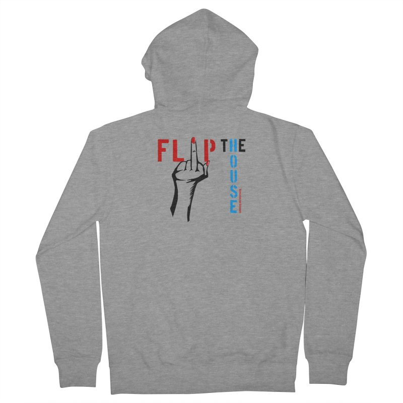 Flip The House 2018 Democrats Will Crush You Black Men's Zip-Up Hoody by Revolution Art Offensive