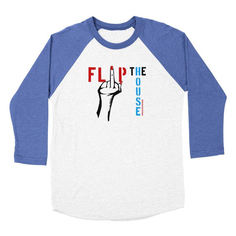 Flip The House 2018 Democrats Will Crush You Black Women's Baseball Triblend T-Shirt by Revolution Art Offensive