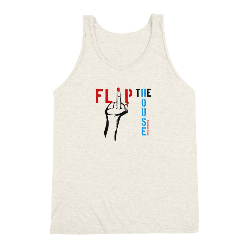 Flip The House 2018 Democrats Will Crush You Black Men's Triblend Tank by Revolution Art Offensive