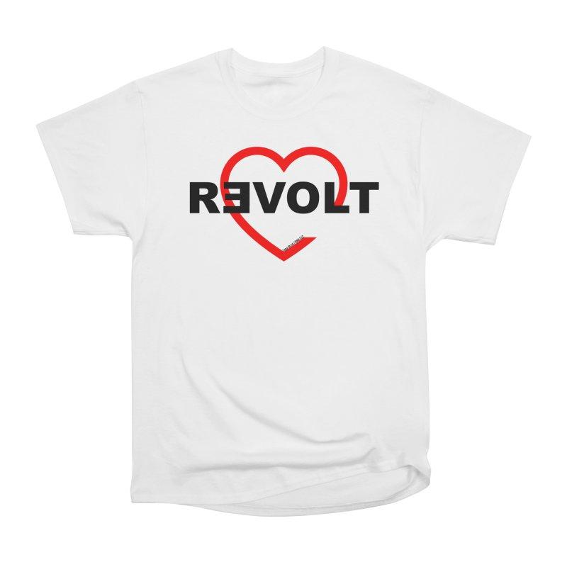 RevoltHeart Black Text  Women's T-Shirt by Revolution Art Offensive