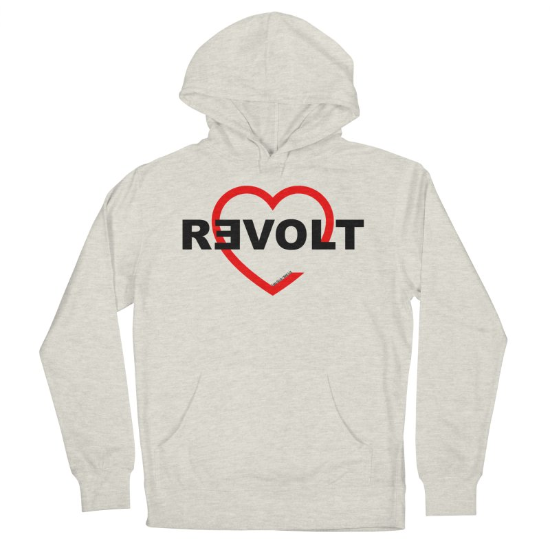 RevoltHeart Black Text  Men's Pullover Hoody by Revolution Art Offensive