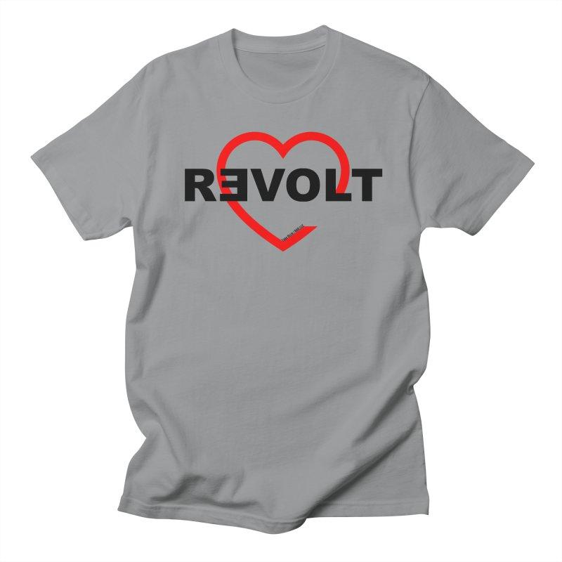 RevoltHeart Black Text  Women's Unisex T-Shirt by Revolution Art Offensive